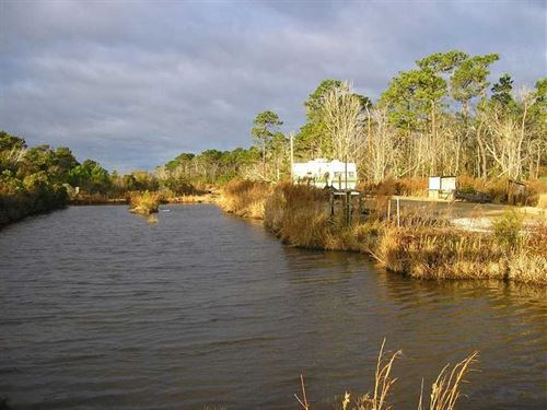 5600+ Acres on Pamlico Sound, NC : Stacy : Carteret County : North Carolina