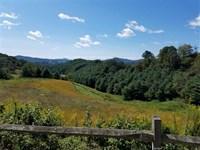10+ Acre Estate Lot With Long Rang : Grassy Creek : Ashe County : North Carolina