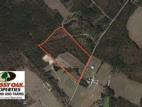 50 Acres of Horse Farm Land For Sa : Raeford : Hoke County : North Carolina