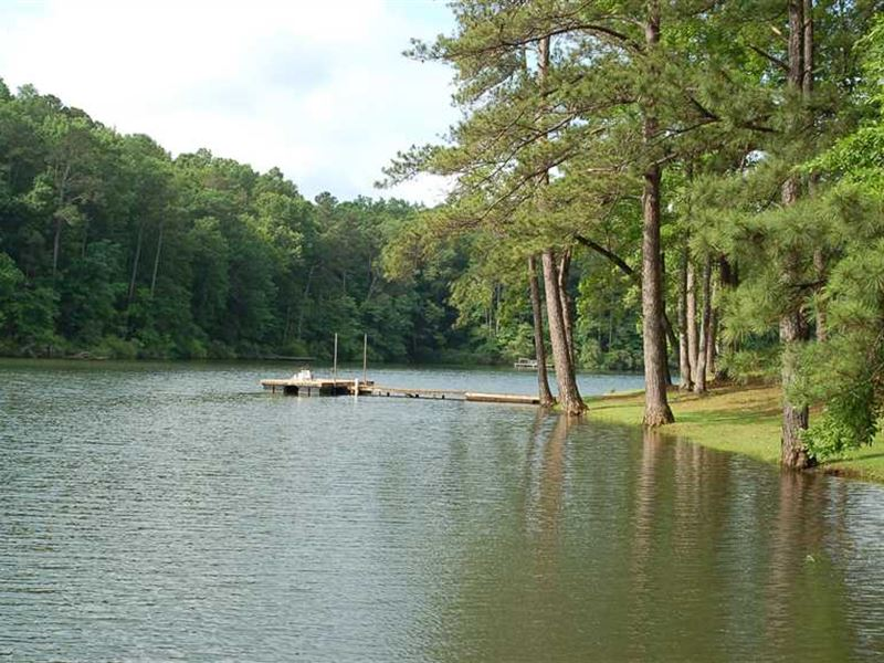 Lake House With Stripe Bass Fishin : Tallassee : Tallapoosa County : Alabama