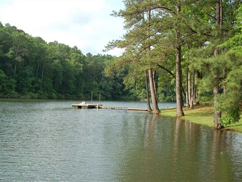 Lake House With Stripe Bass Fishin : Tallassee : Tallapoosa County : Alabama
