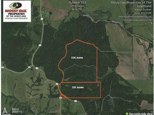 235 Acres 101 Acres Wooded Deer : Unionville : Putnam County : Missouri