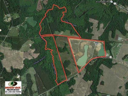 Reduced, 278 Acres of Development : Grimesland : Pitt County : North Carolina