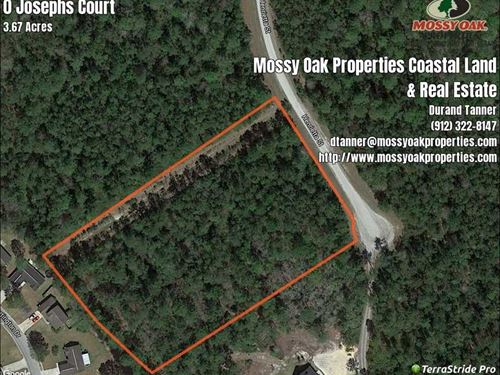 3.5 Acres For Sale Near Kingsla : Kingsland : Camden County : Georgia