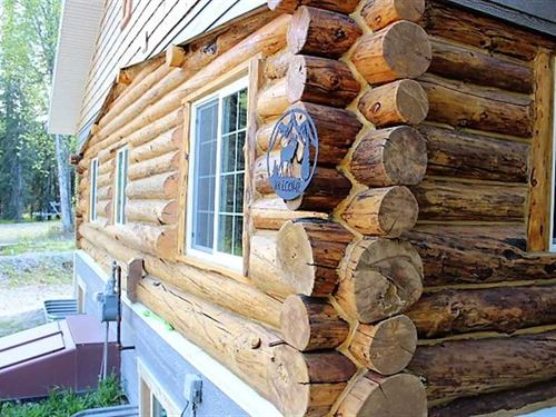 Log Home on Fritz Lake. Turn-Key : Soldotna : Kenai Peninsula Borough : Alaska