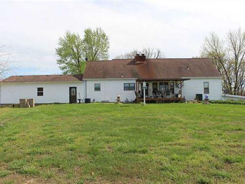 100 Acres, Country Home, 3 Car Gar : Climax Springs : Camden County : Missouri