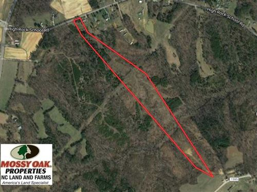 Reduced, 22.25 Acres Undeveloped : Blanch : Caswell County : North Carolina