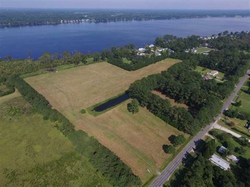 27 Acres of Waterfront Land For Sa : Washington : Beaufort County : North Carolina