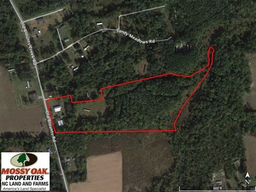 Under Contract, 16 Acres of Land : Chocowinity : Beaufort County : North Carolina