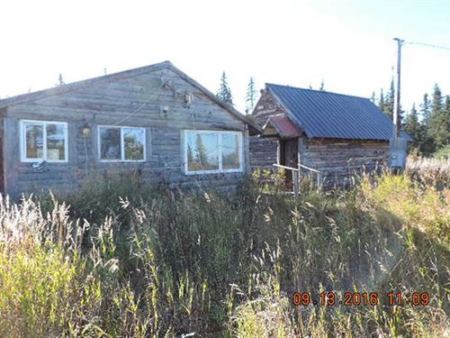 2 Cabins, 9.1 Acre Spread Next To : Anchor Point : Kenai Peninsula Borough : Alaska