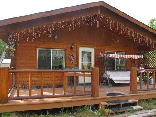 Beautiful And Rustic Log Cabin in : Kasilof : Kenai Peninsula Borough : Alaska