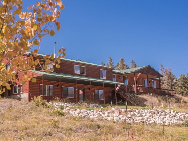 7860049 - 2600 Sf Home On 52 Acres : Poncha Springs : Chaffee County : Colorado
