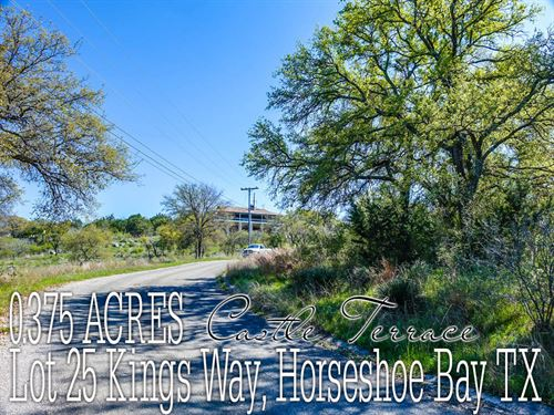 .375 Acres In Burnet County : Horseshoe Bay : Burnet County : Texas