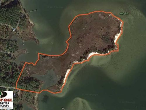 Reduced, 18 Acres of Waterfront : New Point : Mathews County : Virginia