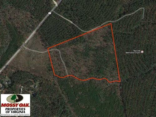 Under Contract, 33.6 Acres of Hun : Disputanta : Prince George County : Virginia