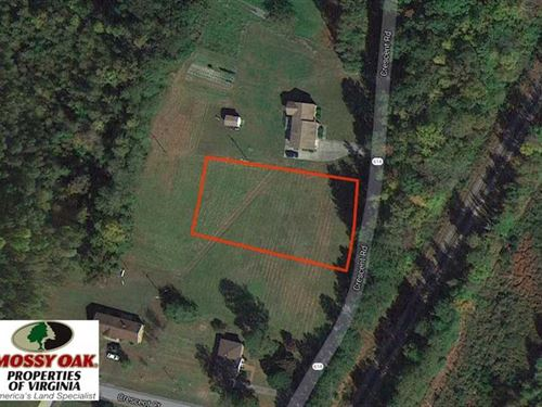 .6 Acre Residential Lot For Sale : Emporia : Greensville County : Virginia