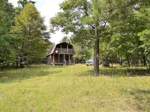 10 Acres And Getaway Cabin in : Witts Springs : Searcy County : Arkansas