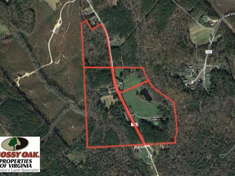 60.48 Acres of Farm And Hunting La : White Plains : Brunswick County : Virginia