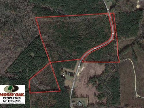 Under Contract, 33.75 Acres of Hu : Lawrenceville : Brunswick County : Virginia