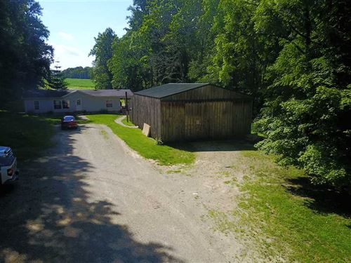 5 Acres With Modular Home, Barn, : Laurel : Franklin County : Indiana