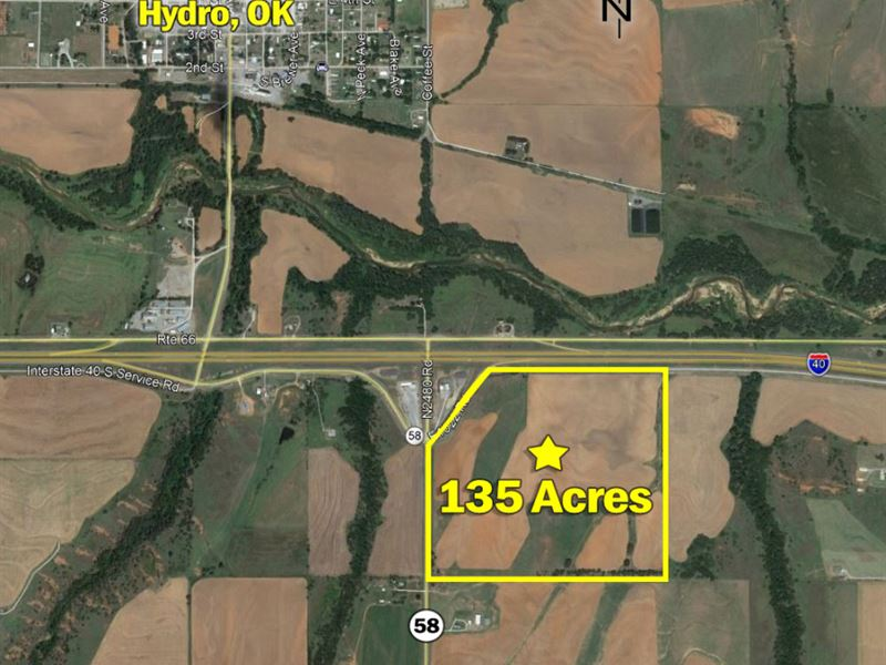 Farmland And Commercial Sites : Hydrp : Caddo County : Oklahoma