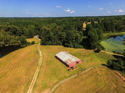 68 Acre Farm With House And Ponds : Union : South Carolina