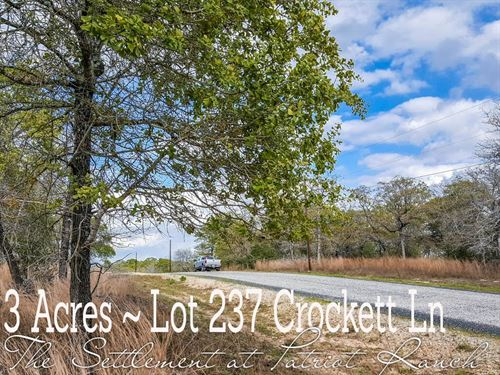 3.05 Acres In Gonzales County : Luling : Gonzales County : Texas