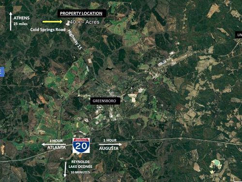 40 Acres Good Location : Greensboro : Greene County : Georgia