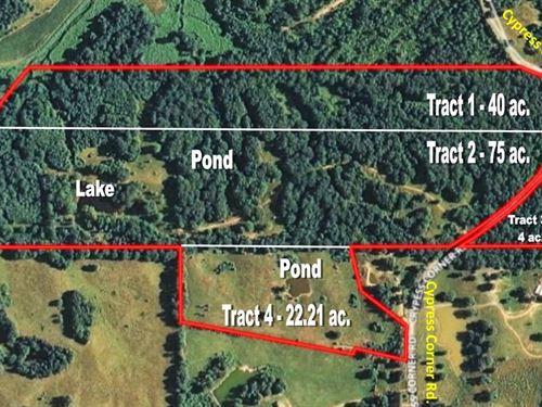 Hunting Land - Pasture Land - Fence : Senatobia : Tate County : Mississippi