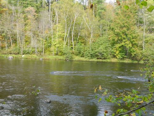 Buildable Chippewa River Front Lot : Ojibwa : Sawyer County : Wisconsin