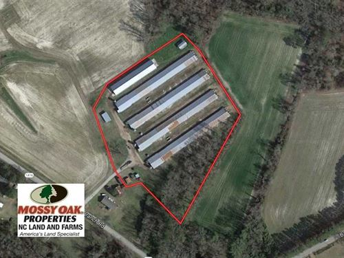 Reduced, 6.5 Acre Chicken Farm Fo : Robersonville : Martin County : North Carolina