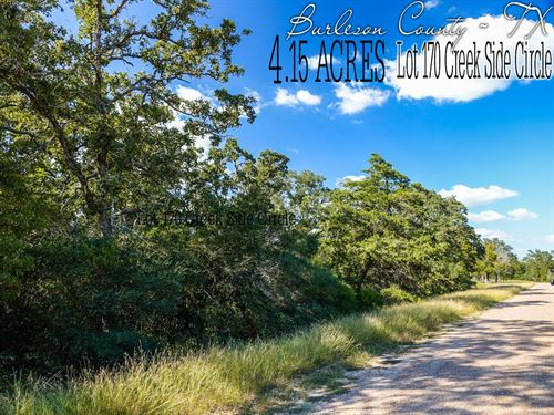 4.15 Acres In Burleson County : Snook : Burleson County : Texas
