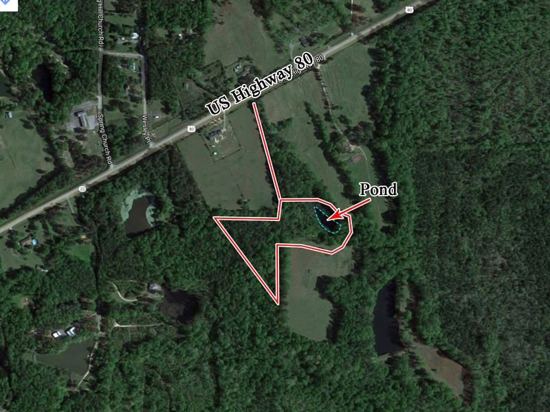 Secluded 10 Acre Property With Pond Land For Sale Lizella