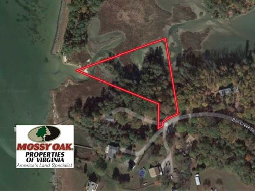Reduced, 3.3 Acres of Waterfront : Senora : Lancaster County : Virginia