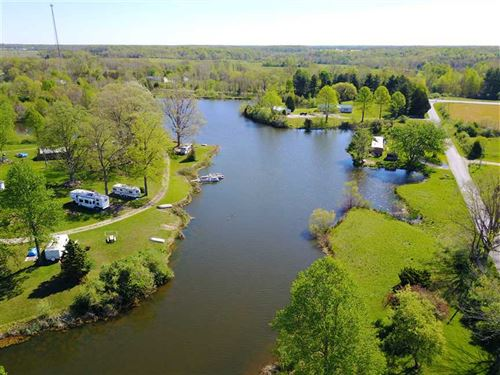 10 Acre Lake With Campground in De : Westport : Decatur County : Indiana