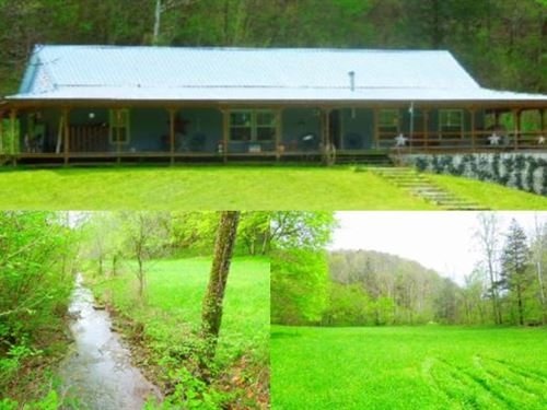 52.75 Ac W/2005 Ranch Home, Private : Celina : Clay County : Tennessee