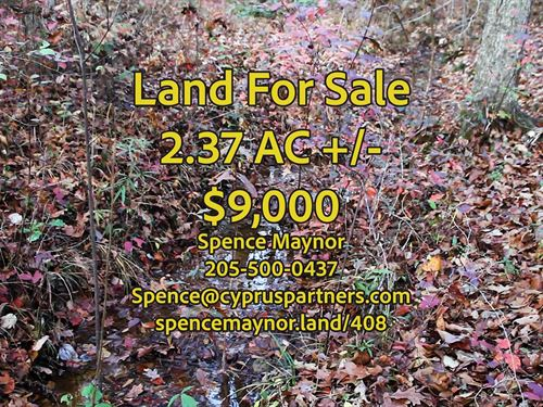 Montevallo Home Site For Sale : Montevallo : Shelby County : Alabama