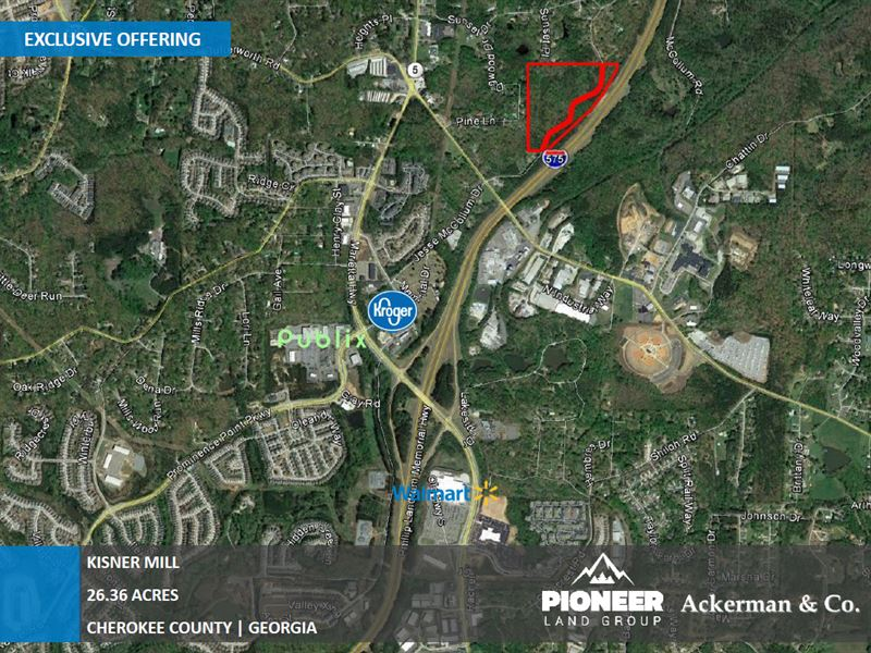 26 36 Acres Raw Land, Kisner Mill : Land for Sale : Canton