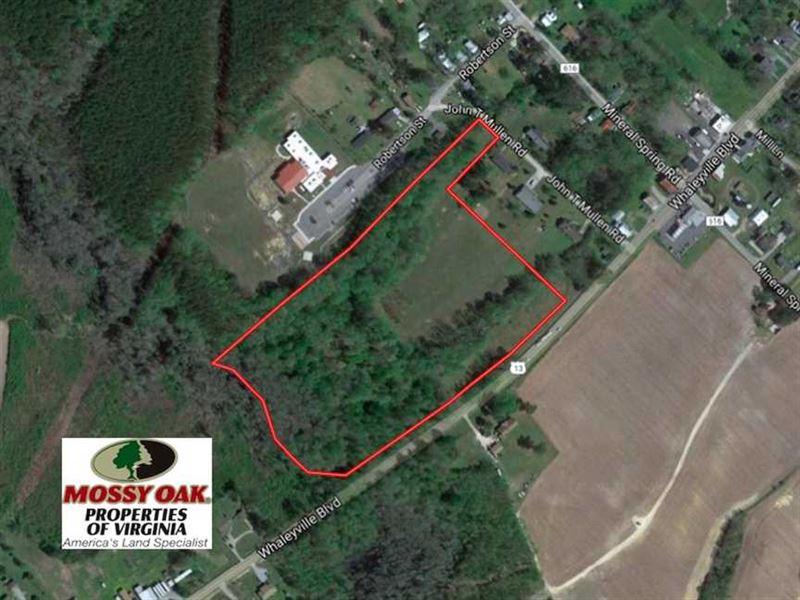 Reduced, 15.5 Acres of Residentia : Whaleyville : Suffolk County : Virginia