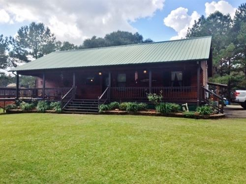 Cypress Cabin On 33 Acres, North Pi : McComb : Pike County : Mississippi