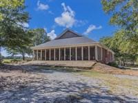 Home In Serene Setting - 22 Acres : White Plains : Greene County : Georgia