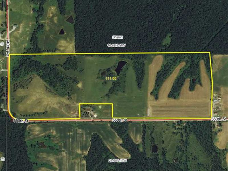 111 Acres M/L, Land For Sale in : Centerville : Appanoose County : Iowa