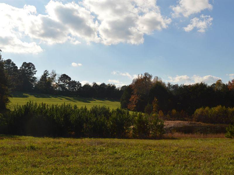 75+/- Ac In Jonesville With 2 Ponds : Jonesville : Union County : South Carolina