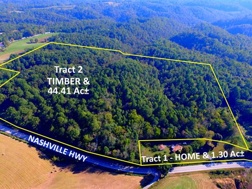4Br Home, 45 Ac & Marketable Timber : Baxter : Putnam County : Tennessee
