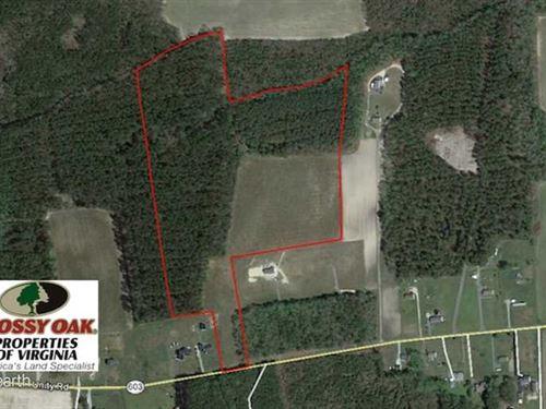 Under Contract, 34.116 Acres Of : Zuni : Southampton County : Virginia