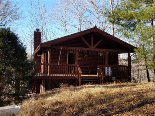 2+ Ac W/ Log Hm W/ Dale Hollow Lake : Alpine : Pickett County : Tennessee