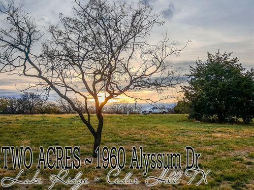 2.002 Acres In Ellis County : Cedar Hill : Ellis County : Texas