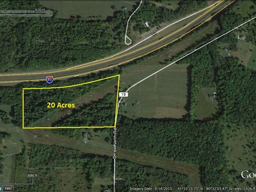 Nice Wooded Building Tract : Hubbard : Mahoning County : Ohio