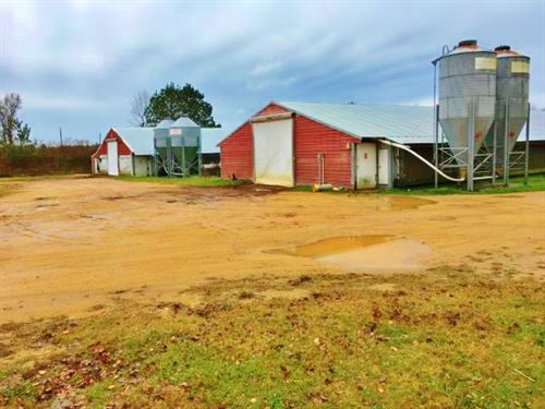 4 Broiler Houses With Home For Sale : Mize : Smith County : Mississippi