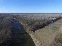 1400 Acre Sulphur River Ranch : Cunningham : Lamar County : Texas